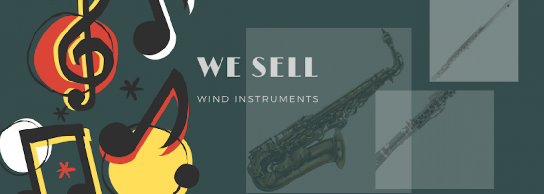 We sell wind instruments