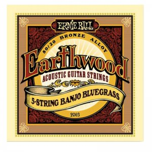 Ernie Ball , Earthwood 2063 80/20 Bronze 5 String Banjo Bluegrass
