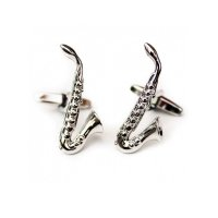 Cufflinks Saxophone Design