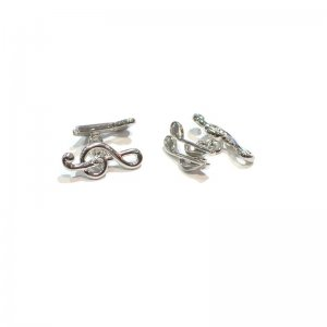 Cuff Links Treble Cleff and Notes Chain Style