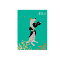 Sarah Miller PS12 Otter Violin Birthday Card