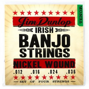 Jim Dunlop DJN1236 Nickel Wound, 4 Set Irish Tenor Banjo Strings