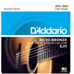 D'Addario  EJ11 80/20 Bronze Acoustic Guitar Strings .012-.053