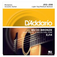 D'Addario EJ14 80/20 Bronze Bluegrass Acoustic Guitar Strings .012-.056