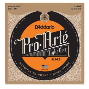 D'Addario EJ43, Pro Arte, Light, Silver Plated Classical Strings