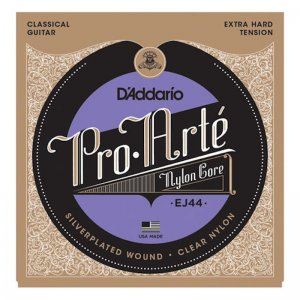 D'Addario EJ44, Pro Arte Ex Hard, Silver Plated Classical Strings