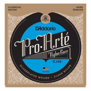 D'Addario EJ46, Pro Arte, Hard, Silver Plated Classical Strings