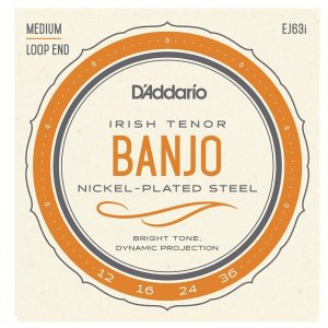 D'Addario EJ631 Nickel Plated, Medium 12-36, Irish Tenor Banjo Strings