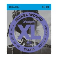 D'Addario EXL115 Electric Guitar Strings Medium/Blues-Jazz,11-49