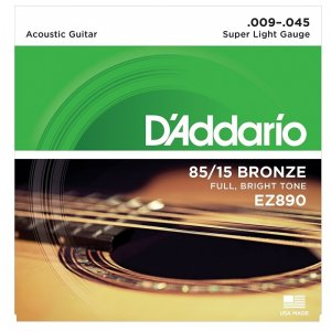 D'Addario EZ890 85/15 Acoustic Guitar Strings .009 - .045