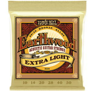 Ernie Ball Earthwood 2006 80/20 Bronze Acoustic Guitar Strings , Ex-Light 10's