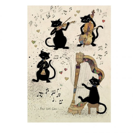 H020 Four Cool Cats Card