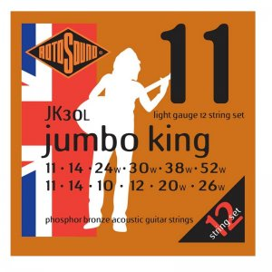 Roto Sound JK30L Light Phosphor Bronze 12 String Acoustic Guitar Strings
