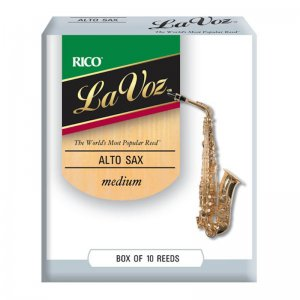 Rico La Voz, Alto Sax Reeds, (Box 10), Strength Medium