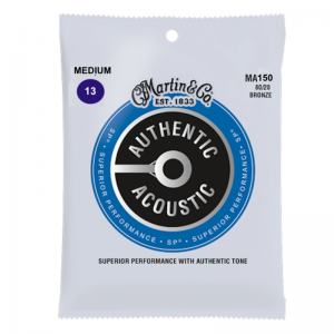 Martin MA150 Authentic Acoustic Bronze Guitar Strings SP 80/20 (13-56)