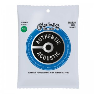 Martin MA170 Authentic Acoustic Guitar Strings SP 80/20 (10-47)
