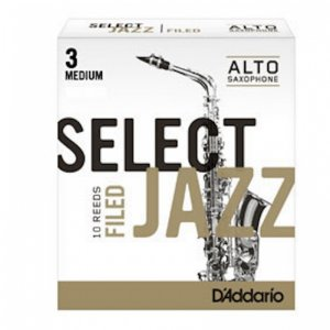 D'Addario Select Jazz Alto Sax Filed, (Box 10) Strength 3 Medium