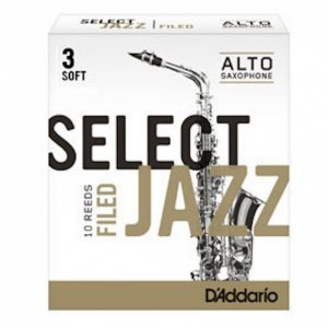 D'Addario Select Jazz Alto Sax Filed, (Box 10) Strength 3 Soft
