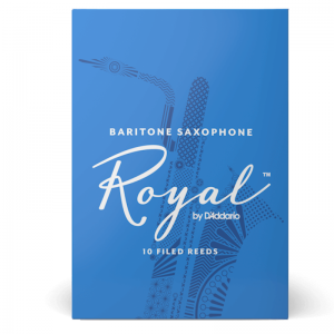 Rico Royal Baritone Sax Reeds, (box 10) strength 2.5