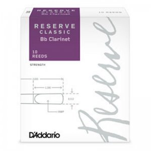 D'Addario  Reserve Classic Bb Clarinet reeds , box of 10