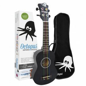Octopus UK200K-BK (Black Natural Satin) Soprano Ukulele