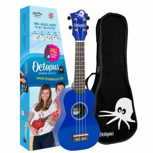 Octopus UK200-DB Soprano Ukulele: Metallic Dark Blue