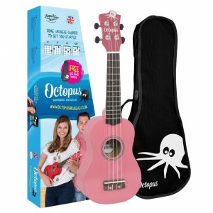 Octopus UK200-PK Soprano Ukulele: Metallic Pink