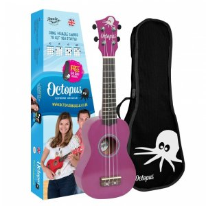 Octopus UK200-PU Soprano Ukulele: Metallic Purple