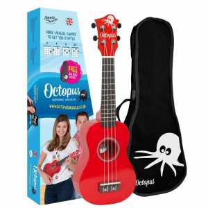 Octopus UK200-RD Soprano Ukulele: Metallic Red