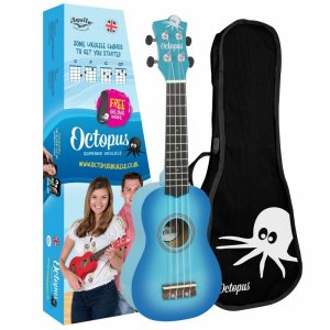 Octopus UK200-SBB Soprano Ukulele: Metallic Sky Blue Burst