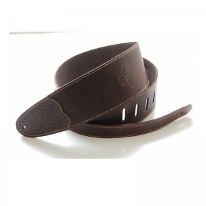 Whitestone & Willow Deluxe Series Leather Guitar Strap Chocolate