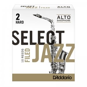 D'Addario Select Jazz Alto Sax Filed, (Box 10) Strength 2 Hard