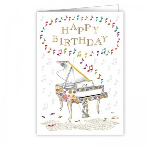 Quire 3922 Happy Birthday Piano Card