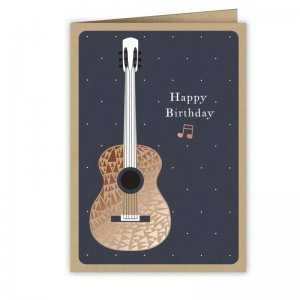 Quire 6807 Copper Guitar Birthday Card