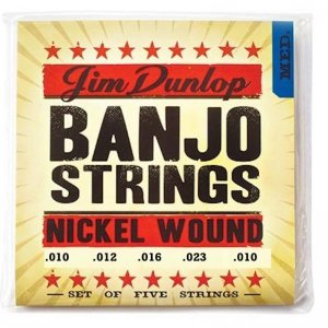 Jim Dunlop DJN1023 Nickel Wound, Medium .010-.023, 5 String Banjo Set