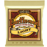 Ernie Ball  Earthwood 2004 80/20 Bronze Acoustic Guitar Strings, Lights 11's