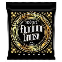 Ernie Ball 2568 Aluminium Bronze Acoustic Guitar Strings, Light