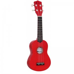 Blue Moon Soprano Ukulele (Red)