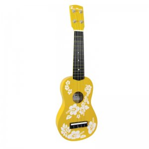 yellow floral children's ukulele
