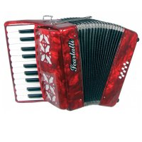 Scarlatti Piano Accordion 8 Bass Red