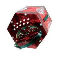 Scarlatti C/G Anglo Concertina 20 Key Red