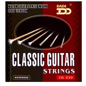 Dadi Student,  Nylon Silver Plated Wound ,Classical Guitar Strings, Hard Tension