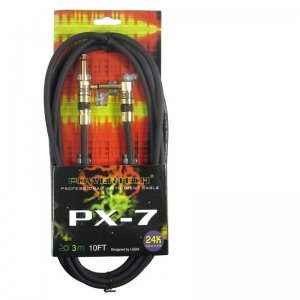 Powertech PX-7 10ft SA straight to angled 6.3mm Jack Instrument Cable