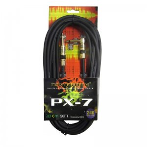 Powertech PX-7 20ft SA straight to angled 6.3mm Jack Instrument Cable