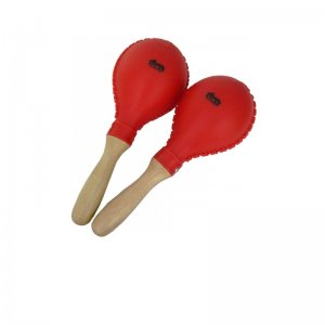 Red Plastic Maracas