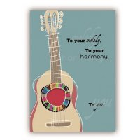 Quire 7649 Guitar Harmony Birthday Card