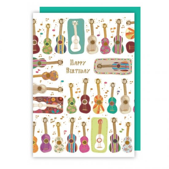 Quire 2606 Guitars Birthday Card