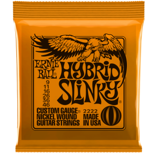 Ernie Ball Hybrid Slinky 2222 Nickel Electric Guitar Strings 9-46