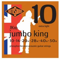 Rotosound Jumbo King JK10, Phosphor Bronze Acoustic Guitar Strings,10-50