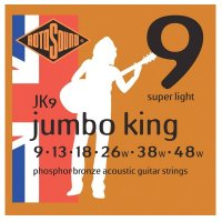Rotosound Jumbo King JK9 Phosphor bronze Acoustic Guitar Strings, 9-48